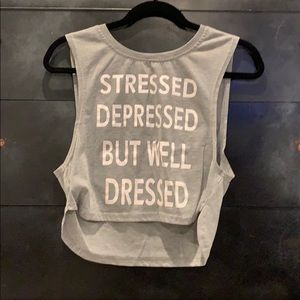 Stressed depressed but well dressed